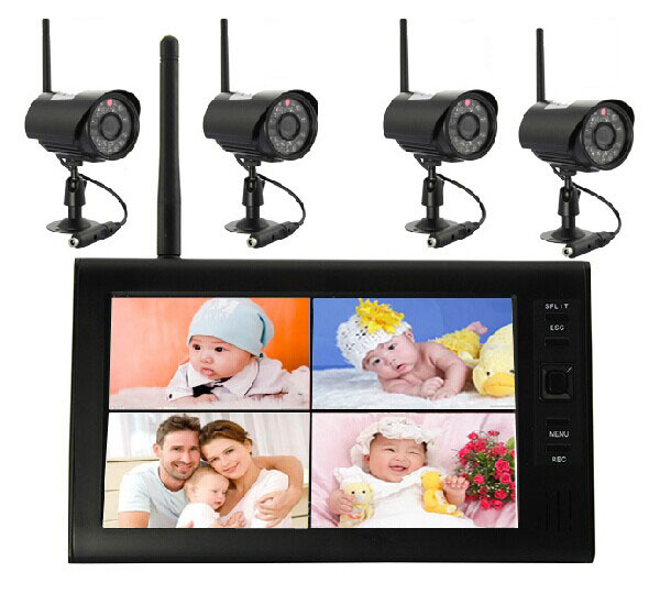 2016 Dropshopping 7.0 inch Color LCD 2.4G Wireless Digital Video Baby Monitor Radio Babysitter with Eletronic Baby Cameras ...