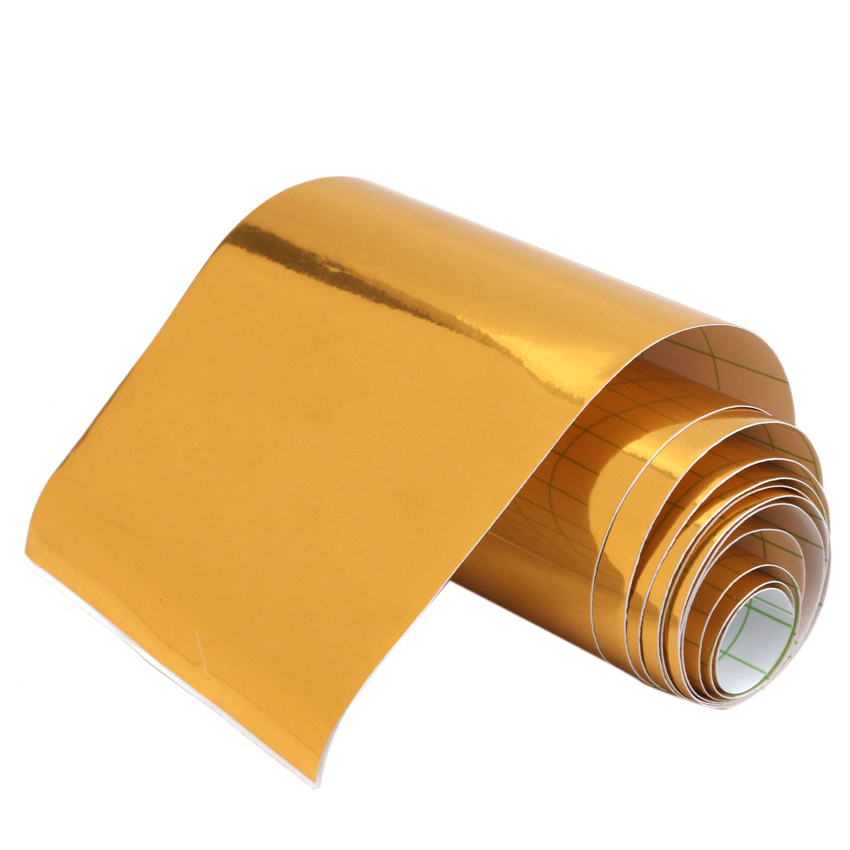 Image 4 - Gold Golden Chrome Mirror Vinyl Wrap Film Car Sticker Decal Bubble Free Air Release DIY Car Styling 10*150cm-in Car Stickers from Automobiles & Motorcycles