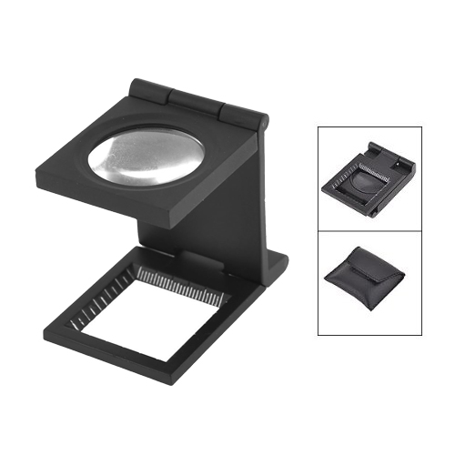 Promotion Black Metal Folding Magnifier Magnifying Glass Jewelry Loupe 10X