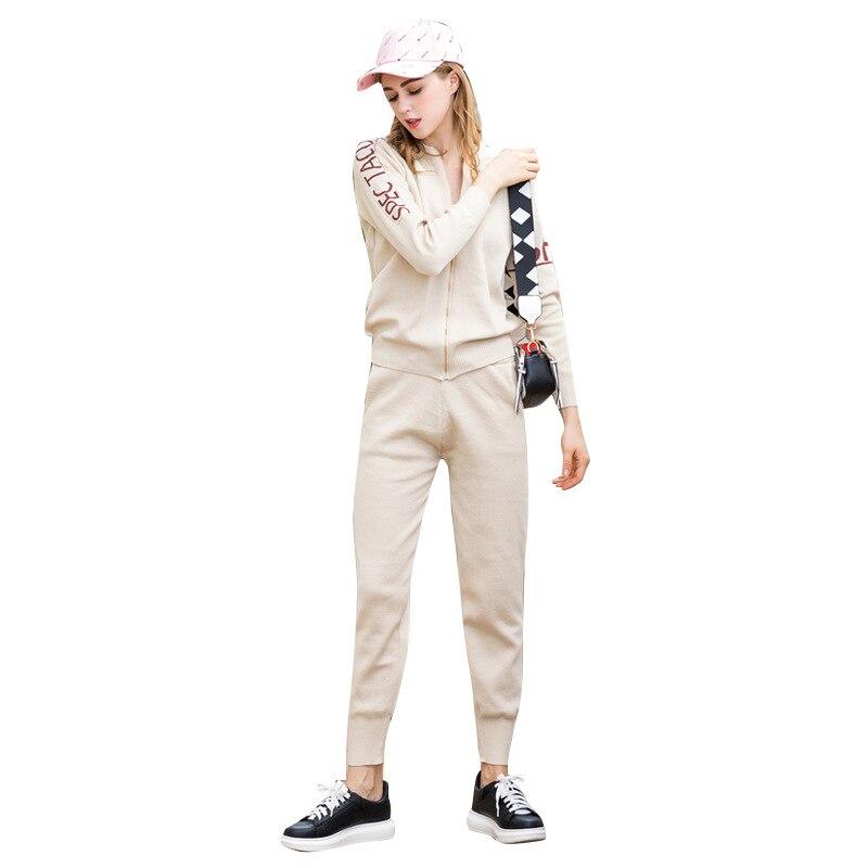 dddae977bc73 Tuta Maglie Pezzi Del Maglioni Vestito grigio Pantaloni Due Set Maglia Di  Femminile il Maglione Manicotto Casual Abbigliamento A Donne Tute Sportive  Lungo E ...