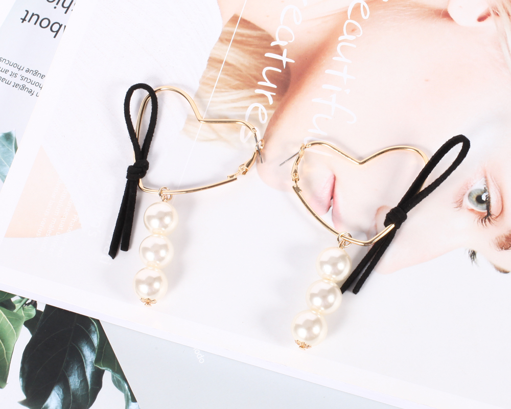 Online Shop New Stylish Hoop Earrings Heart Cloth Earrings Large Earrings  For Women Hy7601  Aliexpress Mobile