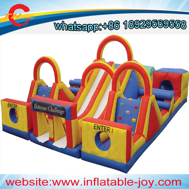 Elegant Free Sea Shipping/cif Prices,giant Adventure Rush Inflatable Obstacle  Course,outdoor Inflatable