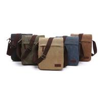 2019 New Men Women Fashion Casual Canves Business Crossbody Bag Messenger Shoulder Tote Briefcase Travel Handbag Solid Color