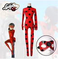 Best Quality In Stock Kid Adult Free Miraculous Ladybug Cosplay Costume With Mask Ladybug Red Suit Ladybug Costume