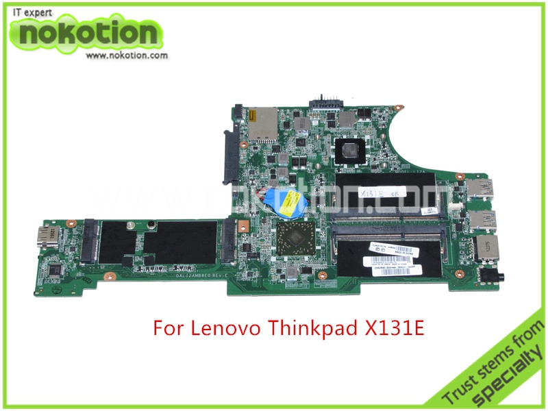 NOKOTION DALI2AMB8E0 REV E FRU 04W3648 For lenovo thinkpad X131e laptop motherboard onboard DDR3 Mainboard
