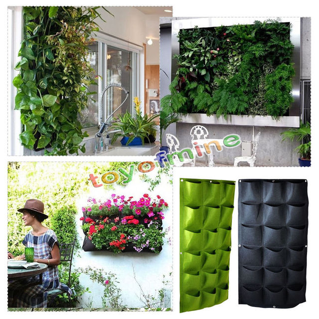 Beautiful 18 Pocket Hanging Vertical Yard Wall Planter Bag Indoor/Outdoor Herb Pot