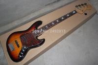 F Jazz Bass 5 String Sunburst Rosewood Fingerboard  Active Pickups 9V Battery electric  Bass Guitar In Stock   @2