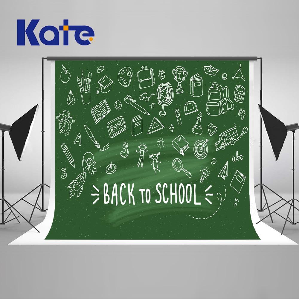 Kate Green Screen Back To School Season Photography Backgrounds Blackboard  Photo Backdrop Children Studio