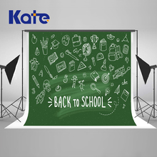 Kate Green Screen Back To School Season Photography Backgrounds Blackboard  Photo Backdrop Children Studio