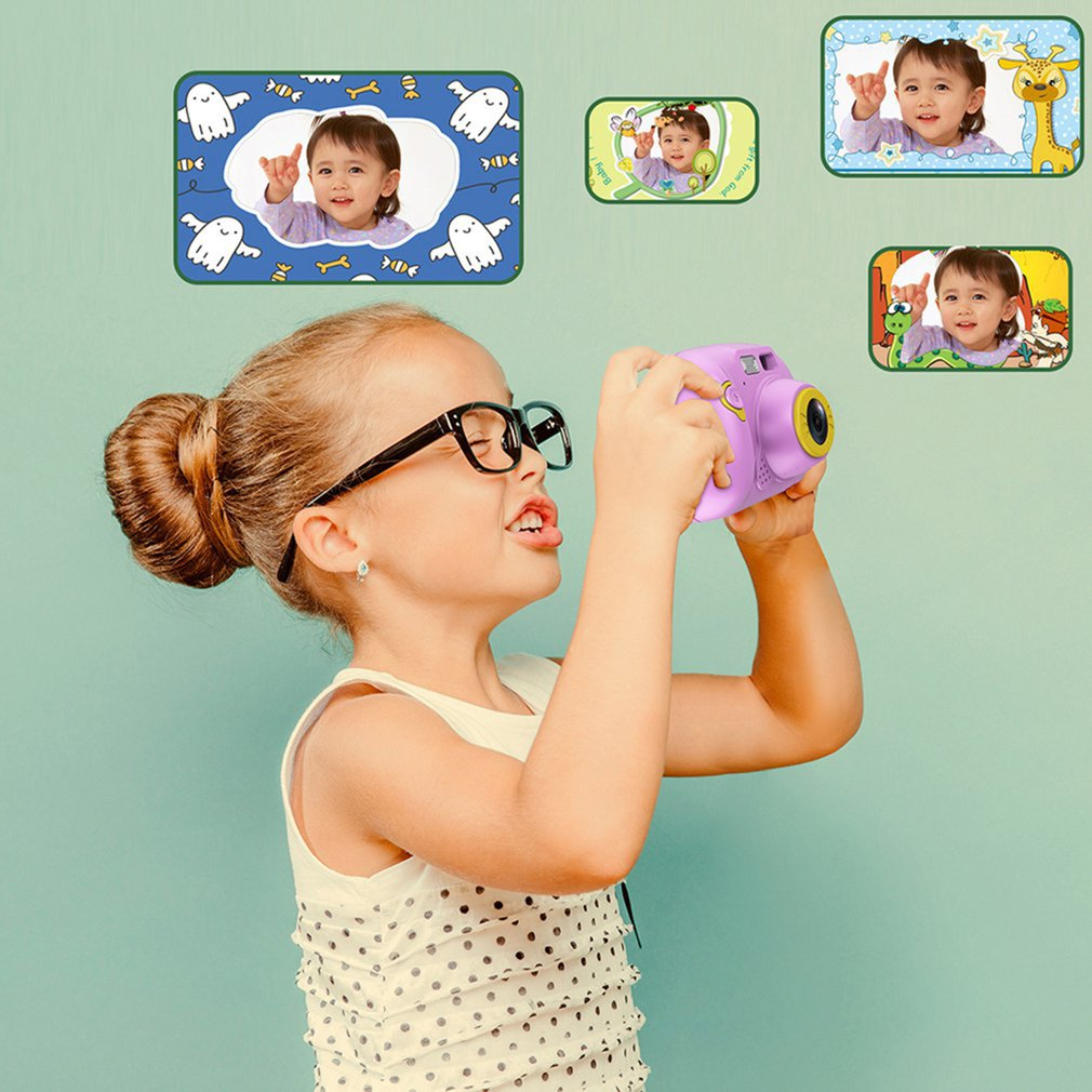 2 inches Wifi HD Screen Chargable Digital Mini Camera Kids Cartoon Cute Camera Photography Props for Child Birthday Gift