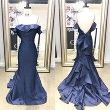 Mermaid Prom Dresses 2019 Under 100 Cheap Long Navy Blue Evening Dress Party  For Women Cheap 5d1f28386d4d