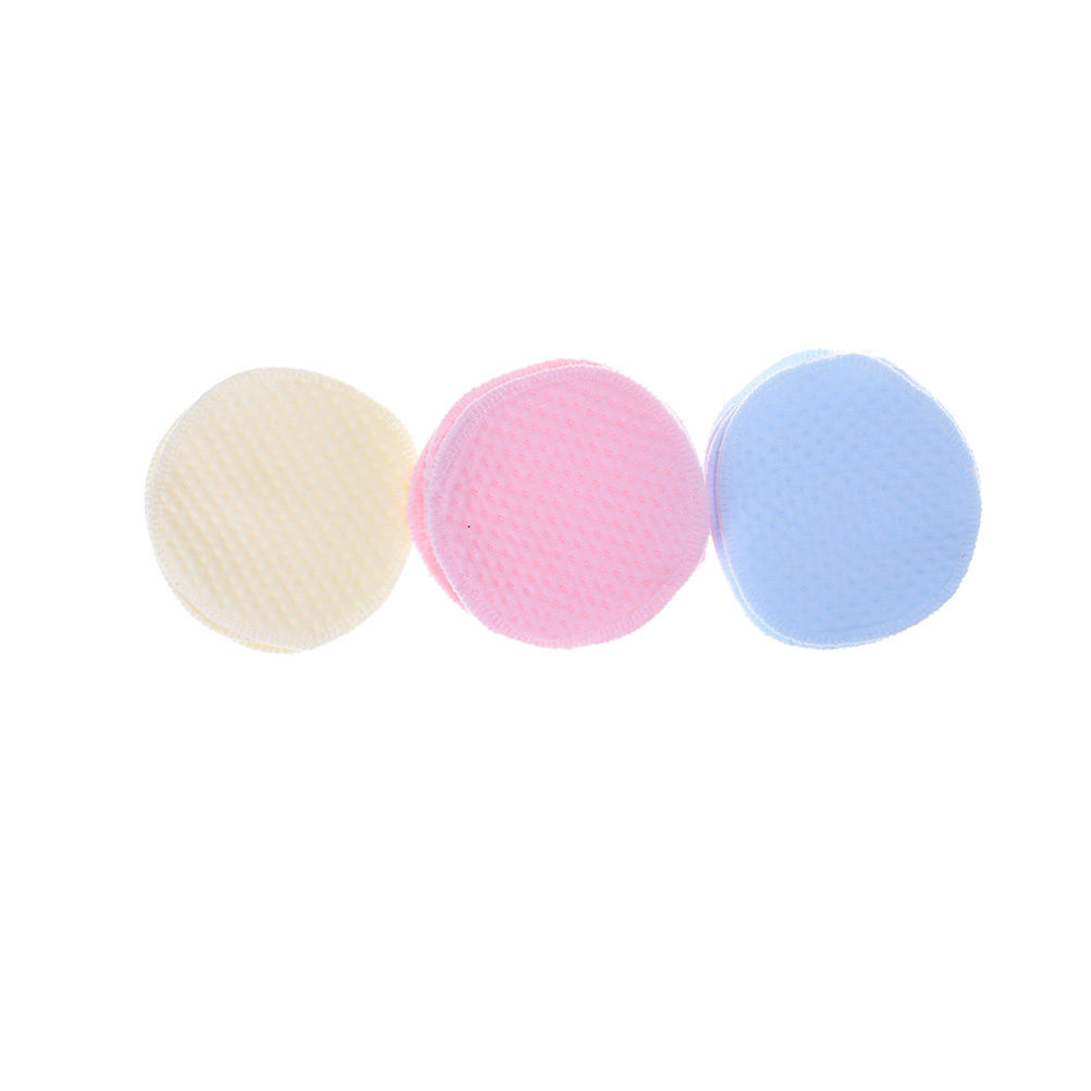 6Pcs Reusable Washable Soft Cotton Absorbent Mom Mother Baby Breast Feeding Nursing Pads Bra Inserts Supplies Random Color