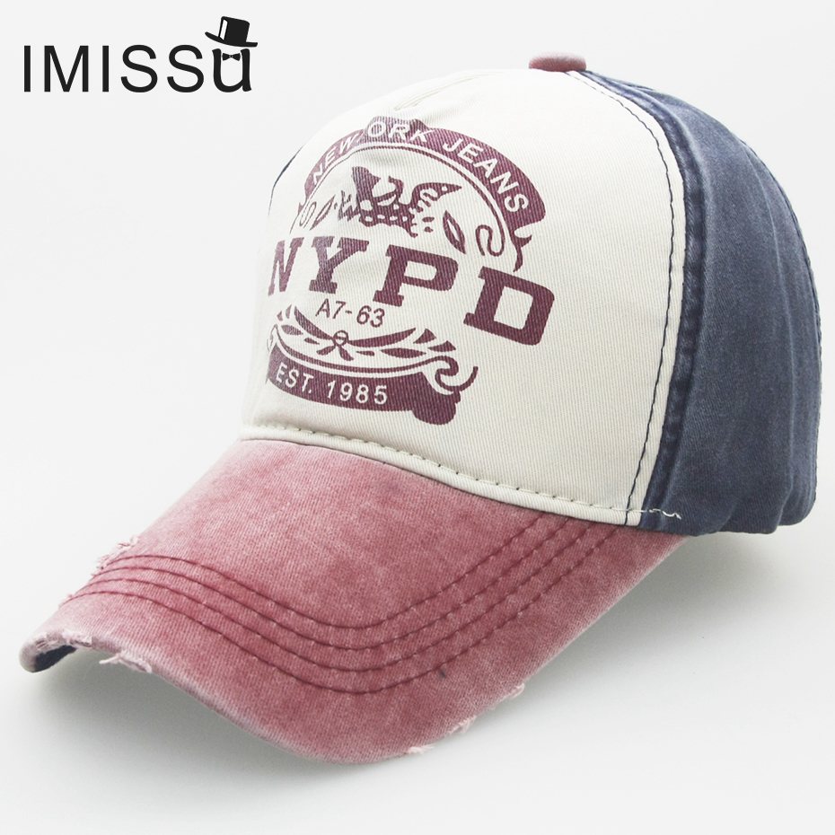 Prix pour IMISSU Papa Chapeau Casquette de baseball Réglable Chapeau Occasionnel Unisexe NYPD Cap Hip Hop Snapback Chapeaux Cap