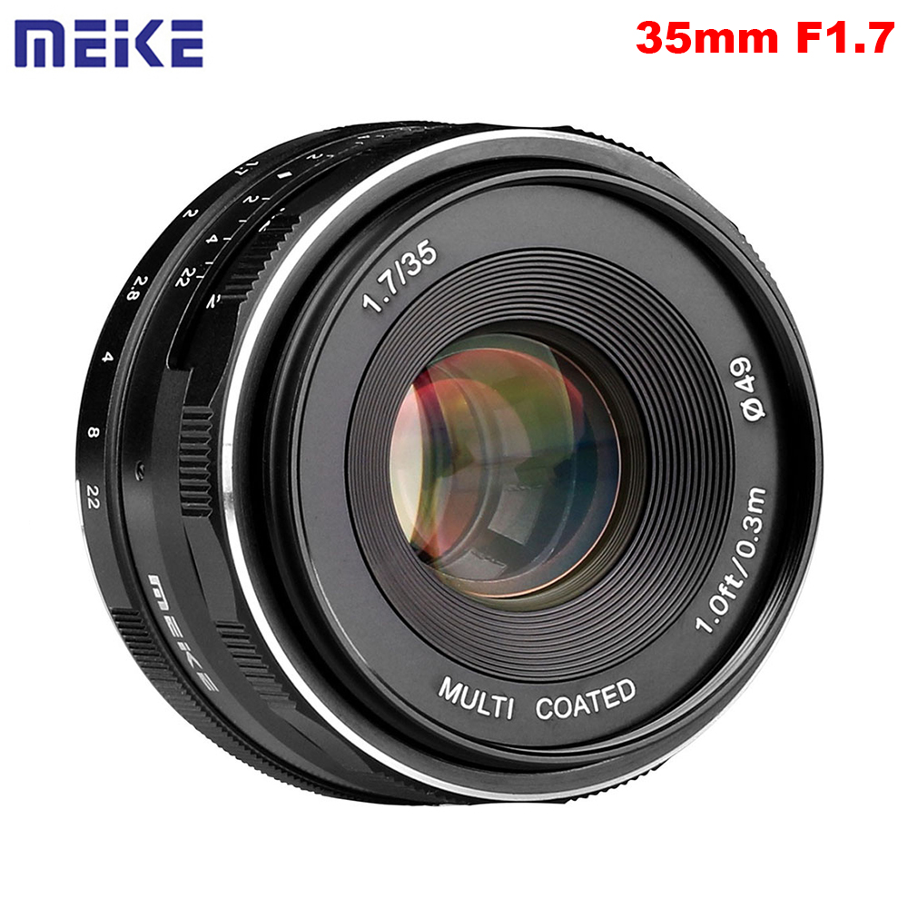 Meike MK 35 1 7 35mm F1 7 Manual Focus Lens APS C for Canon or