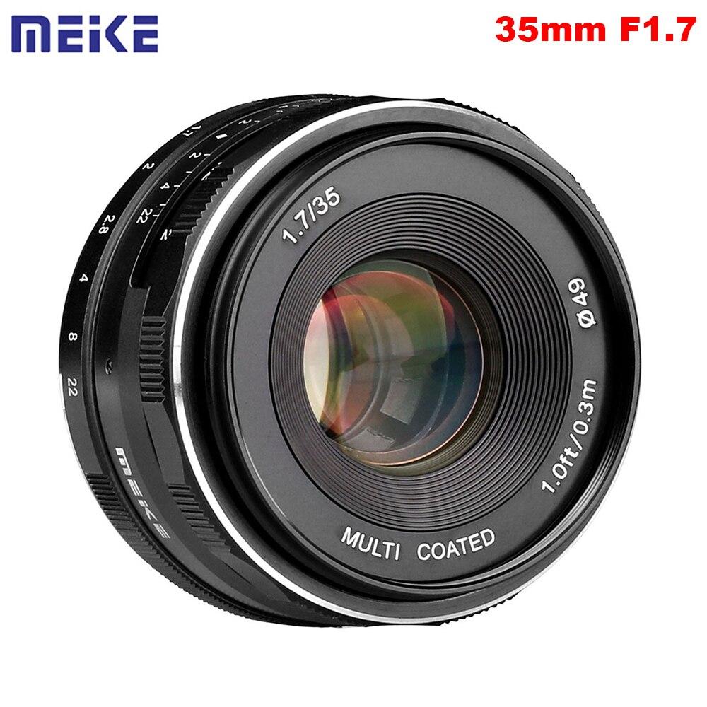 Майке MK-35-1.7 35 мм F1.7 ручная фокусировка объектива APS-C для Canon или для sony или для Fuji или для 4/3 крепление беззеркальных камер