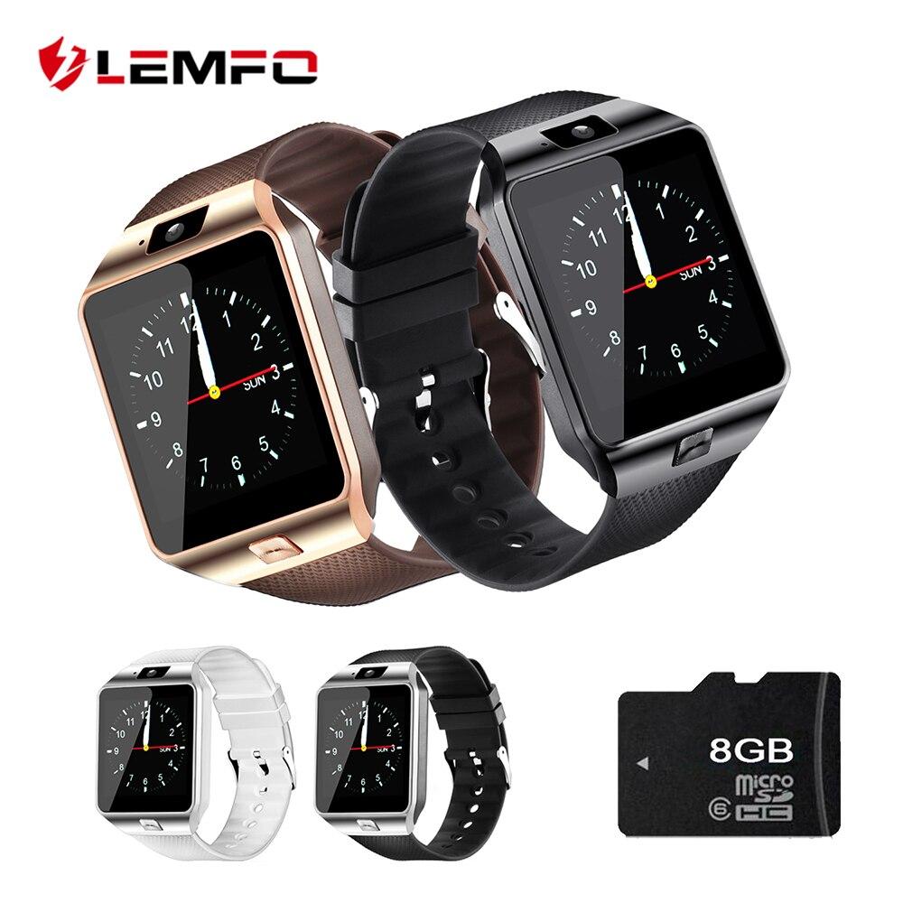 LEMFO Smart Uhr Passometer DZ09 Unterstützung SIM TF Karte Uhren Telefon DZ09 Smart Uhr DZ 09 mit Batterie Strap