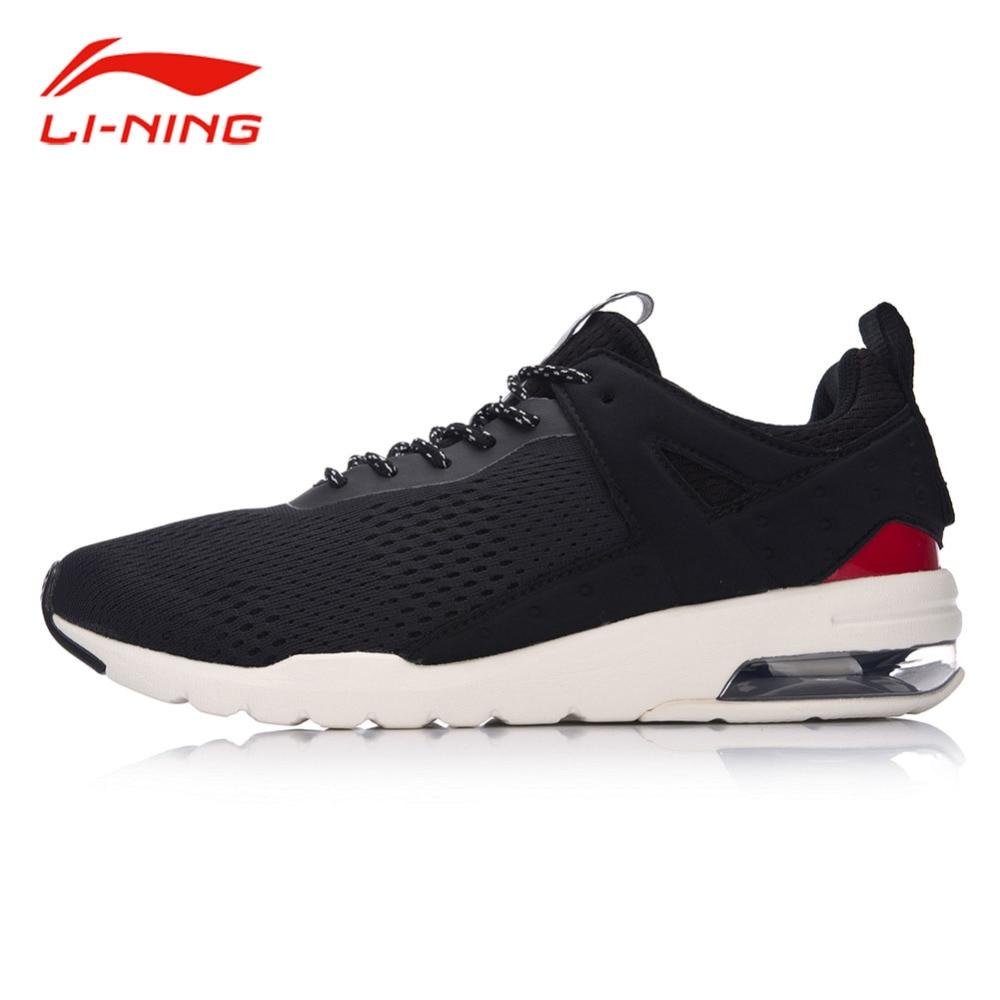 Li-Ning Men Air Cushion Walking Shoes Anti-Slip Breathable Sneakers LiNing Essential Pacer Fitness Jogging Sports Shoes GLKM093 original li ning men professional basketball shoes
