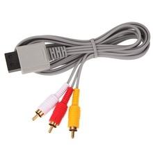 1.8 วิดีโอเสียง AV COMPOSITE 3 RCA CABLE สำหรับคมชัดวิดีโอสำหรับ Nintendo Wii คอนโซล