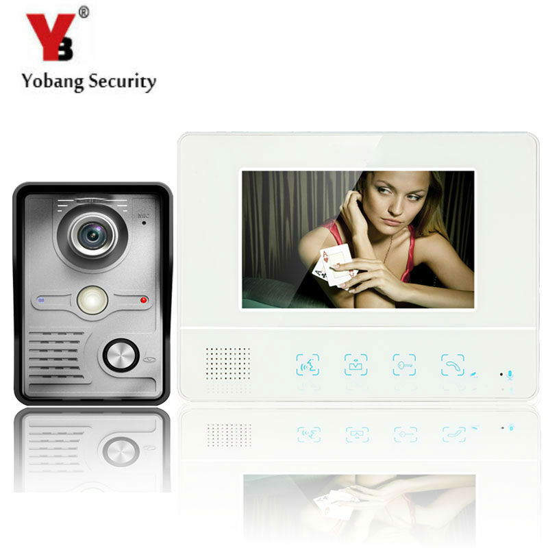 YobangSecurity 7Inch Video Door Phone Doorbell Intercom System Wth IR Outdoor Camera 1000TV Line Home Security Intercom System yobangsecurity 7 inch wire video door phone doorbell intercom system waterproof outdoor camera with raincover intercom system