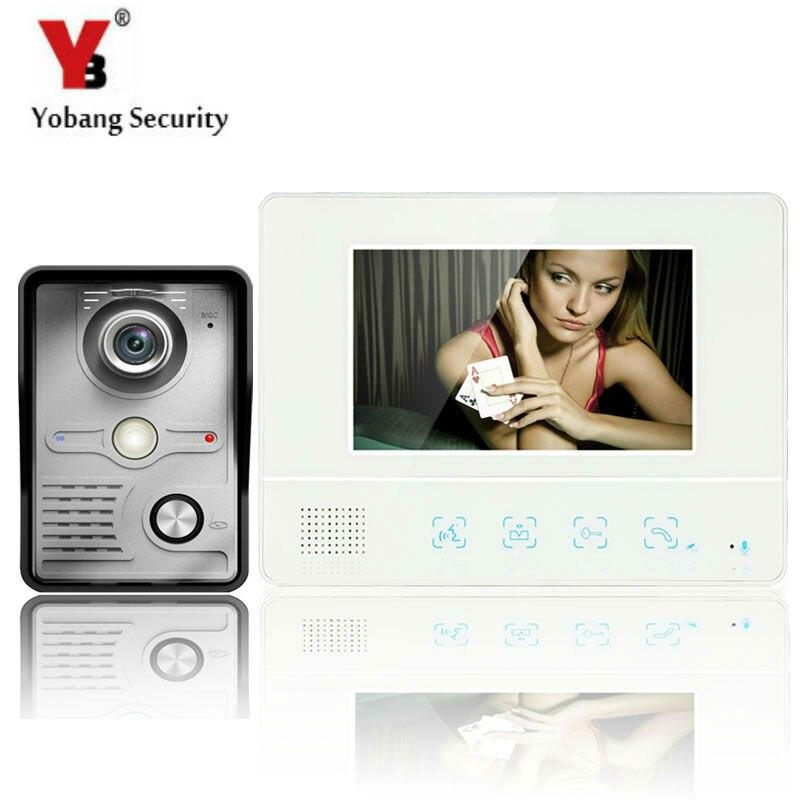 YobangSecurity 7Inch Video Door Phone Doorbell Intercom System Wth IR Outdoor Camera 1000TV Line Home Security Intercom System