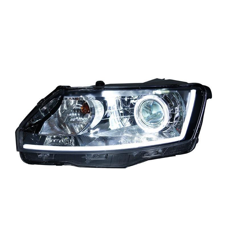 Asamblea Drl Side Turn señal Assessoires Luces Para iluminación llevada Auto del coche faros Luces de niebla delanteras Para Skoda Rapid