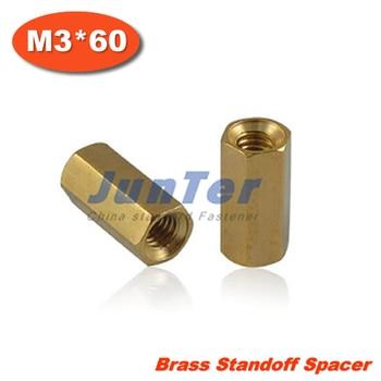 100pcs/lot Brass Standoff Spacer M3 Female x M3 Female 60mm