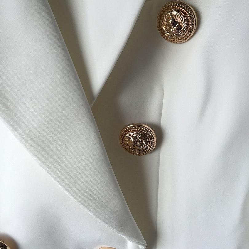 HOHE QUALITÄT Neue Mode 2018 Runway Style Frauen Gold Knöpfe - Damenbekleidung - Foto 5