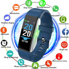 LIGE New Fashion Smart Bracelet IP67 Waterproof Social Information Remind Heart Rate Monitor Smart Sports watch for Android ios