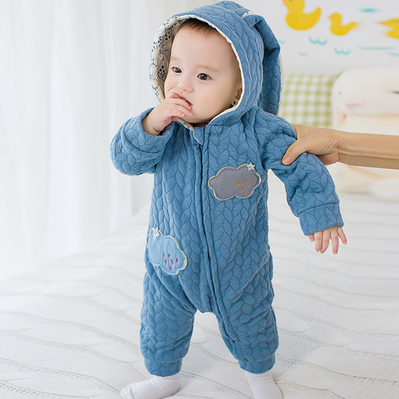 Autumn Spring Baby Rompers cute Hoodies baby girls boys Jumpsuit newborn baby toddle clothing Cotton-padded Overalls kids ropa autumn baby rompers brand ropa bebe autumn newborn babies infantial 0 12 m baby girls boy clothes jumpsuit romper baby clothing