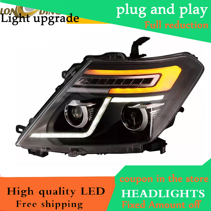 D YL Car Styling 2010 2016 Headlight For NISSAN Patrol Royale for INISSAN Patrol LED HeadLighT