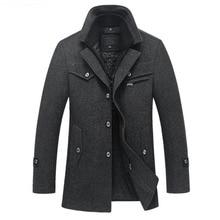 Новинка, зимнее шерстяное пальто, приталенные куртки, мужская повседневная теплая верхняя одежда, куртка и пальто, Мужское пальто, размер M-4XL, Прямая поставка