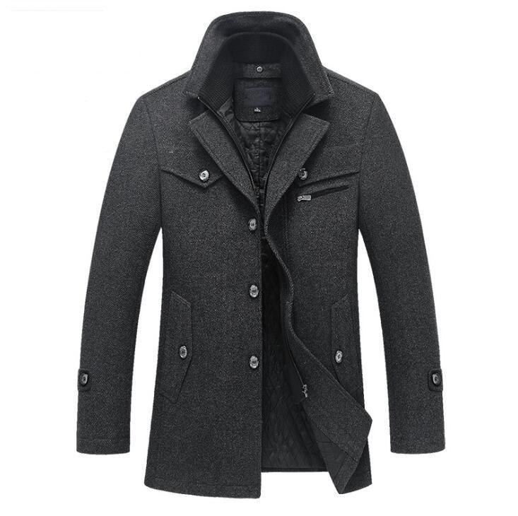 Neue Winter Wolle Mantel Slim Fit Jacken Mens Casual Warme Oberbekleidung Jacke und mantel Männer Pea Coat Größe M 4XL DROP VERSCHIFFEN-in Jacken aus Herrenbekleidung bei  Gruppe 1
