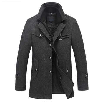 New Winter Wool Coat Slim Fit Jackets Mens Casual Warm Outerwear Jacket and coat Men Pea Coat Size M-4XL DROP SHIPPING - DISCOUNT ITEM  29% OFF Men\'s Clothing
