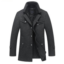 a6abd1b101bf ZOEQO New Winter Wool Coat Slim Fit Jackets Mens Casual Warm Outerwear  Jacket and coat Men