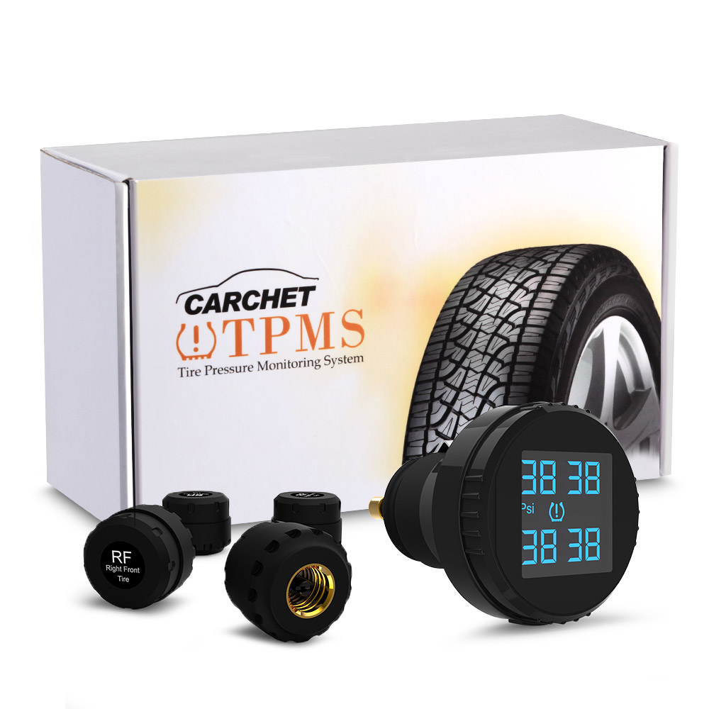 CARCHET TPMS Tyre Pressure Monitoring System 4 External Sensors Cigarette Lighter Car Tire Pressure Alarm Shipping from overseas in Tire Pressure Alarm from Automobiles Motorcycles