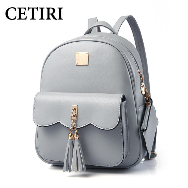 CETIRI Tassel Women Leather Backpack Teenage Backpacks For Girls ...
