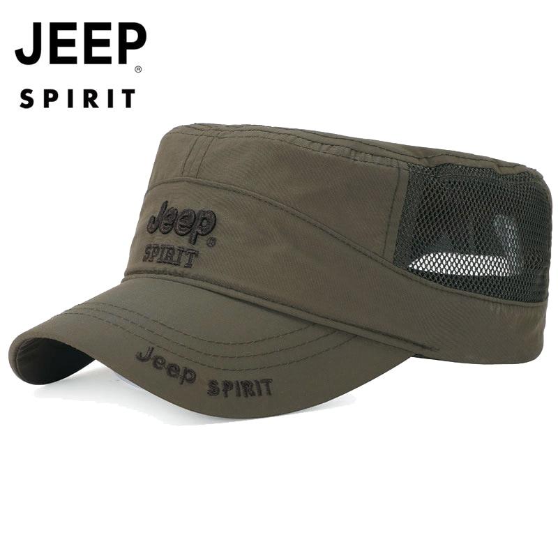 Original JEEP SPIRIT Baseball Cap Men Hat Women Snapback Hat Breathable Unisex Caps Letter Adjustable Outdoor gorra hombre