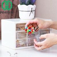 WHISM Creative Plastic Drawer Organizer Box Office Desk Sorting Container Jewelry Storage Box Mini Debris Cabinets