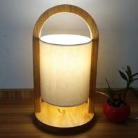 Modern Nordic simple bedroom bed desk lamp solid wood individual creative desk lamp