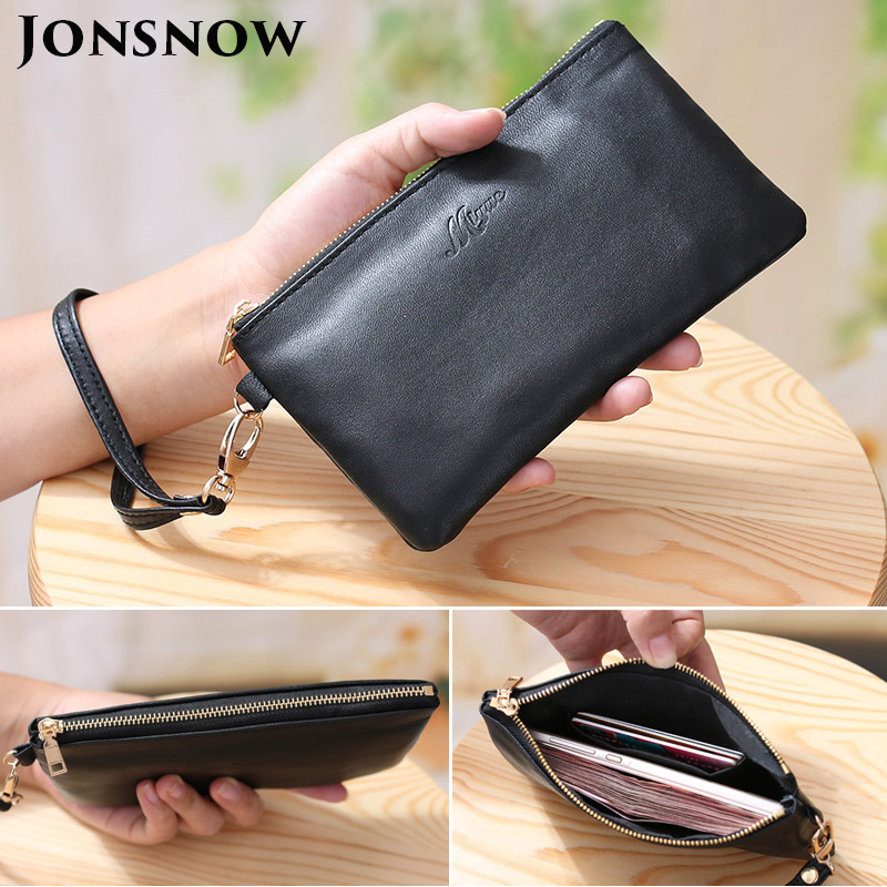 JONSNOW Luxury Clutch For iPhone 7 8 Plus XS XR Wallet Leather Case For Samsung S8 S9 Note 8 9 Long Zipper Purse Phone Bag