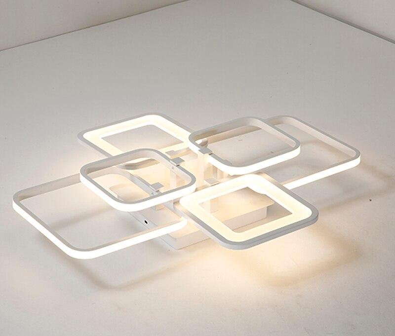Прямоуглольный, алюминиевый светодиодный потолочный светильник пост Современная креативная простая лампа с теплым светом для спальни инд