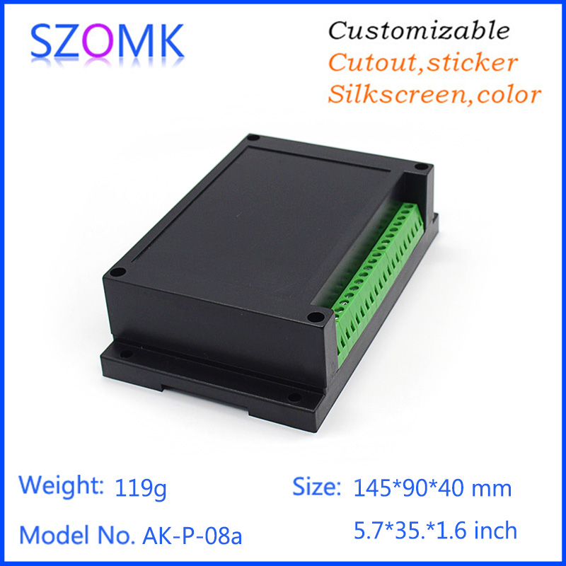 szomk electronic project box for Diy housing (1 pcs) 145*90*40mm junction housing electronic enclosure box din rail enclosure 4pcs a lot diy plastic enclosure for electronic handheld led junction box abs housing control box waterproof case 238 134 50mm
