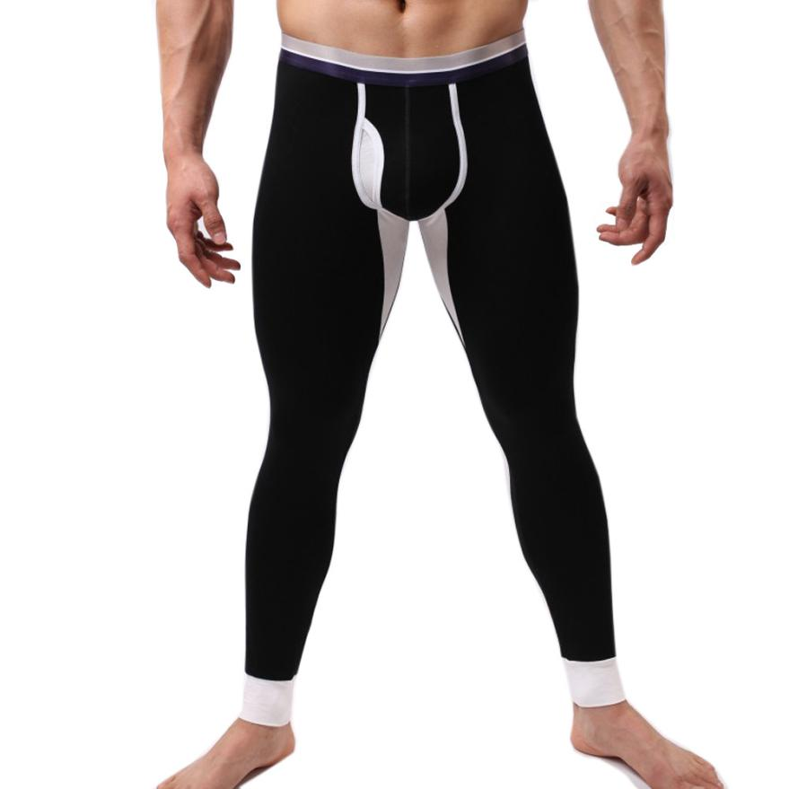 MUQGEW Winter pants men warm Polyester Long Johns Thermal Tight Underwear Leggings Pants hiver sous-vetement thermique #3
