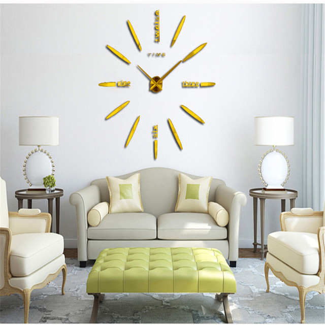 3d Jam Dinding Digital Diy Desain Baru Watch Home Dekorasi Kreatif
