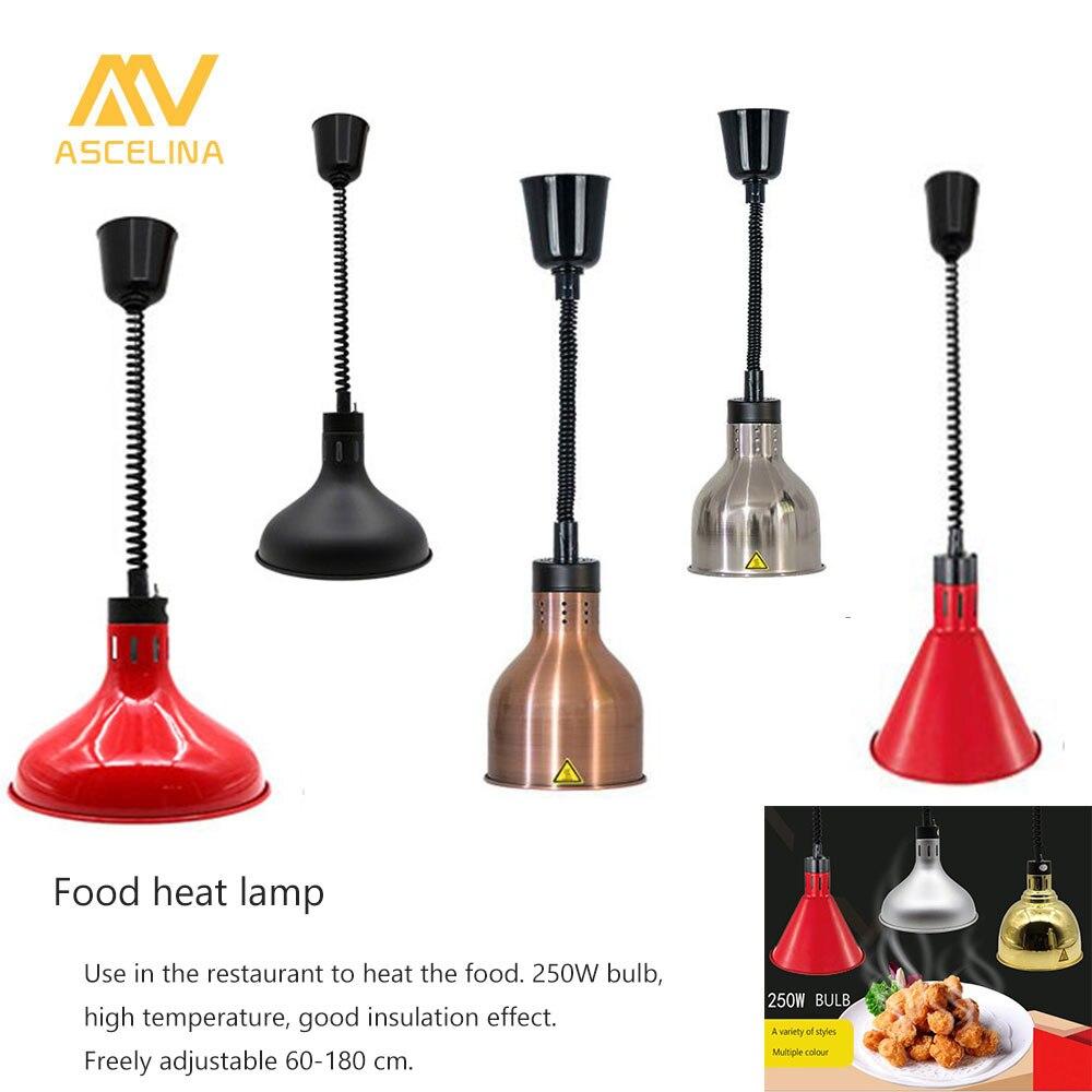 все цены на Heat Lamp 250W Electric heat lamp Adjustable telescopic pendant Light Restaurant Kitchen Buffet Food Warming Hanging Lamps