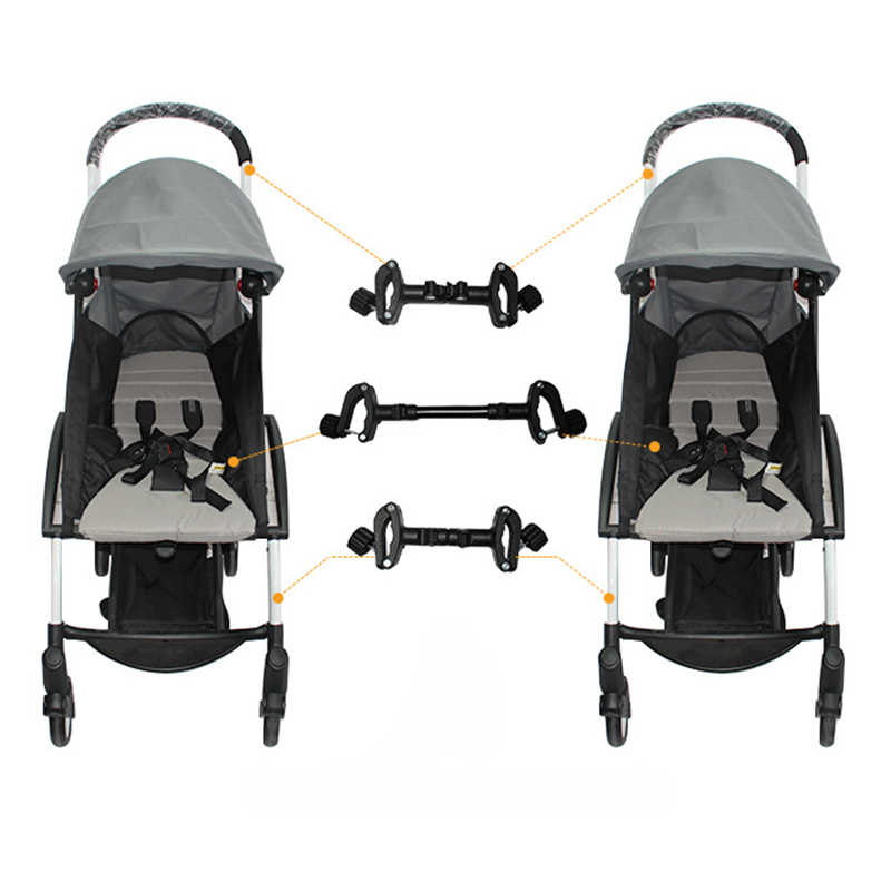 New 3-Piece Universal Connector Header Stroller Accessories Twin Stroller Detachable Connector Lightweight Folding Stroller