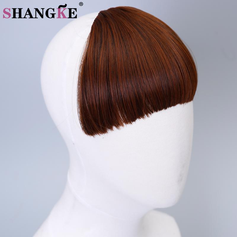 shangke клип в челкой термостойкие природных шиньоны ролик в наращивание волос мульти цвет волос бахрома аккуратные волосы челкой