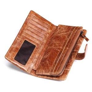 Image 4 - KAVIS 2020 New Designer Men Leather Wallets Casual Male Wallet Clutch Bag Brand Long Wallet Genuine Leather Brand Wallet For Men