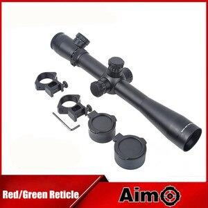 Objetivo-O Rifle de francotirador óptica colimador mirilla alcance 3,5-10X40 SF iluminado dispositivo de puntería estilo M3 1Set AO 5305