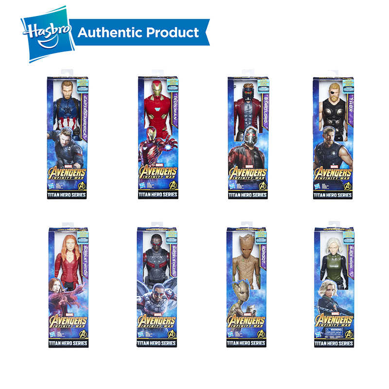 Starforce 3 Infinito Guerra Hasbro Marvel Avengers Super Hero 12 Polegada Conectar Titan Herói Poder Pacote para Ativar Sons FX & frases